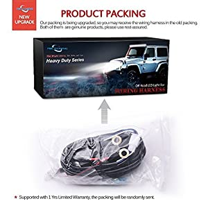 MICTUNING HD 300w LED Light Bar Wiring Harness Fuse 40Amp Relay ON-OFF Waterproof Switch 1Lead