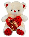 Dhoom-Soft-Toys-Teddy-Bear-Lace-Heart-Cream-45-CM