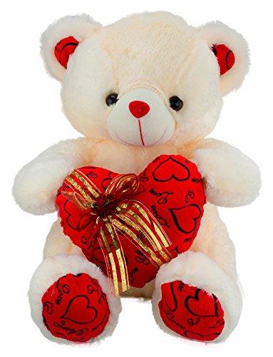 Dhoom-Soft-Toys-Teddy-Bear-Lace-Heart-Cream-45-CM