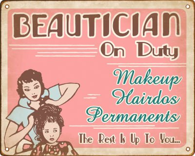 Picture suggestion for Vintage Beauty Salon Signs