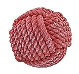 6 Inch Diameter Monkey Paw Sailor Knot Doorstop - Red