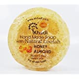 Khadi Hand Made Soap With Natural Loofah Honey Almond Asorted (75gm) (pack Of 3) 75g X 3 With Ayur Lotion 50 Ml