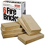 Rutland Duty Fire Bricks, 9 by 4-1/2 by 1-1/4-Inch