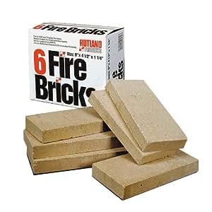 Rutland Duty Fire Bricks, 9 by 4-1/2 by 1-1/4-Inch