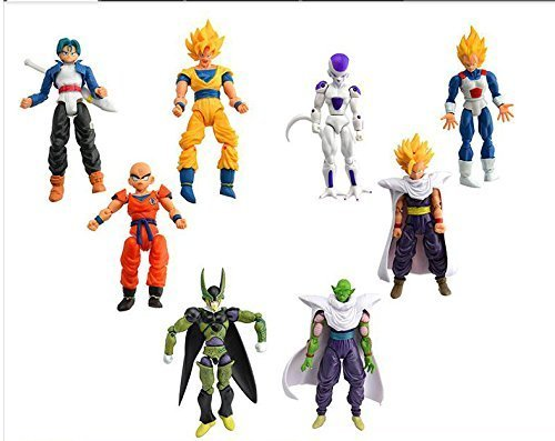 New 8pcs/lot 17cm PVC Dragon Ball Z Joint Movable Vegeta Piccolo Son Gohan Goku Trunks Freeza Doll Action Figure Chidren Toy (Dbz Figure Lot compare prices)
