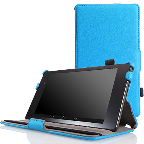 MoKo Google Nexus 7 2013 FHD 2nd Gen Case - Slim-Fit Multi-angle Stand Cover Case with Auto Wake / Sleep for Google Nexus 2 7.0 Inch 2013 Generation Android 4.3 Tablet, BLUE (Nexus 7 Case Blue compare prices)