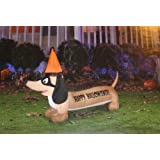 Halloween Inflatable - Happy Hallowiener - 4.5 Feet - LED Lights Dog Inflatable