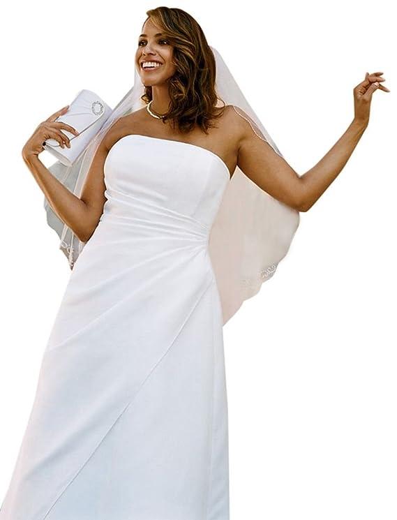 SAMPLE Wedding Dress Satin A-line with Asymmetrical Skirt Style AI13020027
