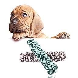 Coco*store Puppy Dog Pet Toy Cotton Braided Bone Rope Corn Stick Chew Knot