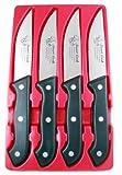 New, High Carbon Stainless Steel Steak Knife Set, Steak Knives, Full Tang Construction, Thick Comfort Grip Handles, Set of 4