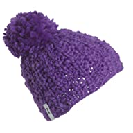 FU-R Headwear - Women's Darcy, Fleece Lined Hand Knit Slouchy Pom Hat