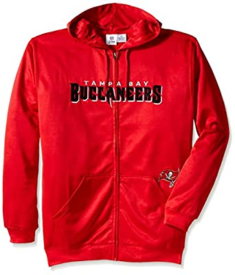 NFL Men's Bucs Full Zip Poly HD Sweatshirt