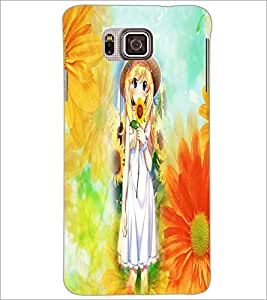 PrintDhaba Sweet Girl D-2961 Back Case Cover for SAMSUNG GALAXY ALPHA (Multi-Coloured)