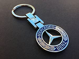 Mercedes benz chrome logo keyring key chain fob c300 c350 for Mercedes benz key chain