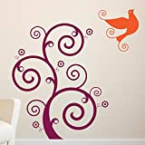 Decal Style Bird Swirl Wall Sticker Large Size-23*24 Inch