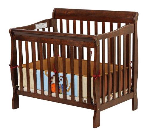 Dream On Me 3 In 1 Aden Convertible Mini Crib Espresso