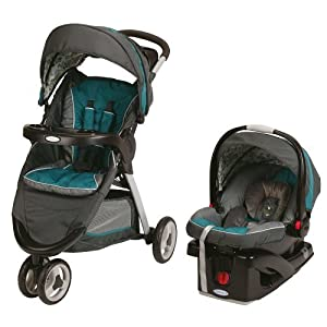 Graco FastAction Fold Sport Click Connect Travel System Stroller - Caraway