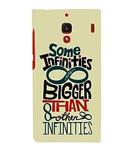 Some Infinities Bigger 3D Hard Polycarbonate Designer Back Case Cover for Xiaomi Redmi 1S :: Xiaomi Redmi (1st Gen)