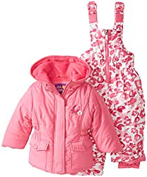 Pink Platinum Baby Girls\' Camo Snowsuit, Strawberry, 24 Months