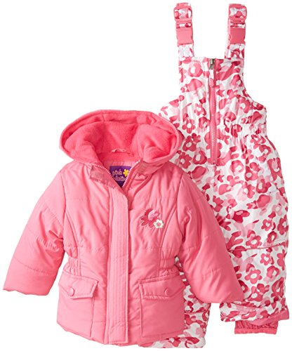 Pink Platinum Baby Girls' Camo Snowsuit, Strawberry, 24