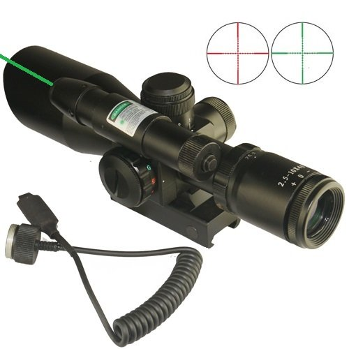 Fsi Compact Cqb 2.5-10X40Mm Scope Red/Green Illumination Green Laser