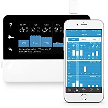 RainMachine Touch HD-12, Cloud Independent, The Forecast Sprinkler, Wi-Fi Irrigation Controller, 2nd Generation, 6,5 inch, Works with Amazon Alexa