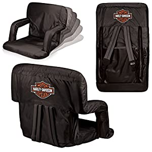 Picnic Time Harley Davidson Ventura Portable Reclining Stadium Seat from Picnic Time