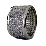 Mens FULLY ICED Micropave A Class HipHop Bling Ring