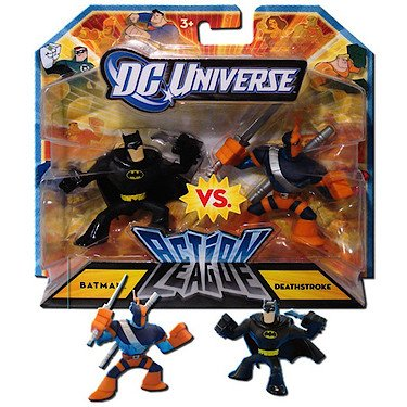 DC Universe 2.25 inch Mini Action League 2-Pack - Batman vs. Deathstroke