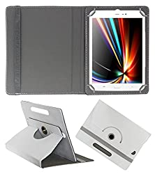 Acm Rotating 360° Leather Flip Case For Iberry Auxus Core X8 Tablet Cover Stand White