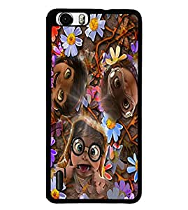 Fuson 2D Printed Funny Faces Designer back case cover for Huawei Honor 6 - D4284