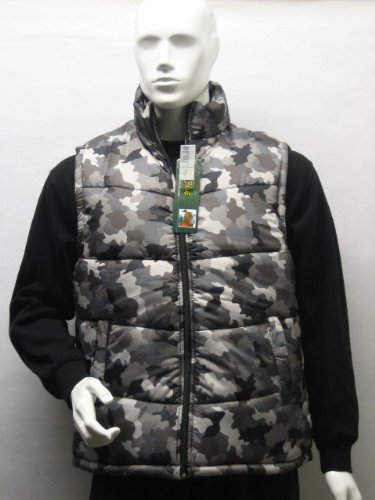 Mens Padded Sleveless Body Warmer Vest Puffer Gilet in Urban Camo, Extra Large (XL)