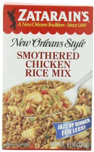 Zatarain's New Orleans Style Mixes, Smothered Chicken Rice Mix, 8-Ounce Boxes (Pack of 12) (Smothered Chicken Rice compare prices)