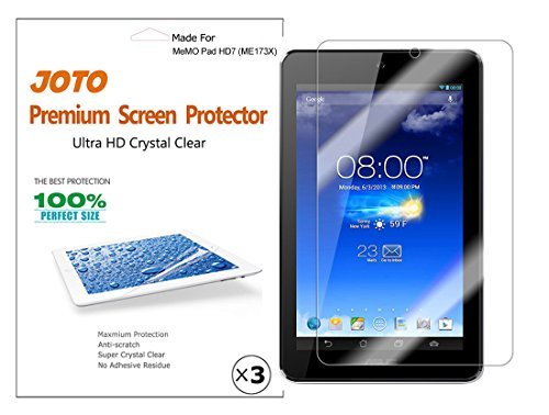 ASUS MeMO Pad HD 7 Screen Protector Film (2013 ASUS ME173X) - JOTO Ultra Crystal Clear (Invisible) Screen Guard for ASUS MeMO Pad HD 7-Inch Tablet