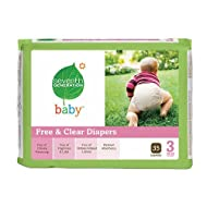 Seventh Generation Baby Free & Clear Diapers Stage 3 16-28 Lbs 140 Ea