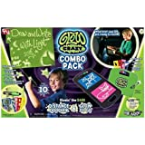 As Seen On TV Glow Crazy Distance Doodler And Glow To Go, Glow In The Dark Toys, 2 Toy Combination Pack