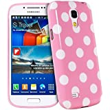 Silicone Softcase vintage strass Case Etui Coque étui de portefeuille protection Coque Case Cas Pour Samsung Galaxy S4 Mini i9190 i9192 i9195 (Not for S4) Rose rose et blanc