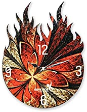 Hoopoe Decor Burning Classical Theme Trendy Designer Wall Clock