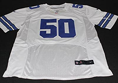 "SEAN LEE Signed ""Americas Team"" Dallas Cowboys White Jersey Autograph PSA / DNA Size 52"