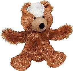 KONG Teddy Bear Dog Toy, Medium, Brown