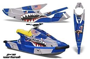 AMR Racing Yamaha Wave Blaster Graphics: P40 Warhawk - Blue