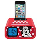 eKids Minnie Mouse Dual Alarm Clock and 30-Pin iPod Speaker Dock, by iHome - DM-H22