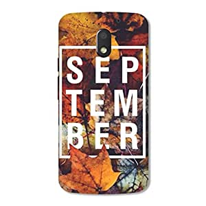 HAPPYGRUMPY DESIGNER PRINTED BACK CASE COVER for MOTO E3 POWER