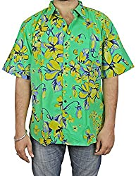 Indian Beach Shirts For Men Cotton Printed Fashion Accessory Comfortable Airy