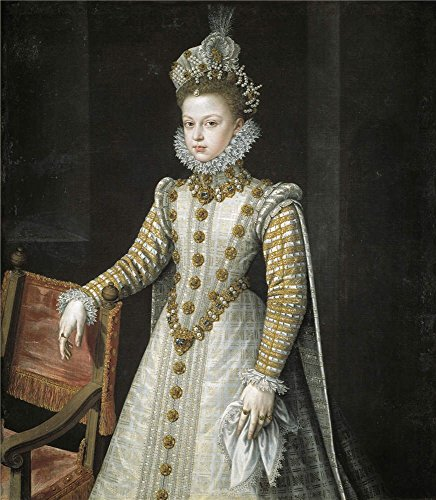 Oil Painting 'Sanchez Coello Alonso The Infanta Isabel Clara Eugenia 1579 ' Printing On High Quality Polyster Canvas , 30 X 34 Inch / 76 X 87 Cm ,the Best Gift For Bf And Gf And Home Gallery Art And Gifts Is This Beautiful Art Decorative Canvas Prints