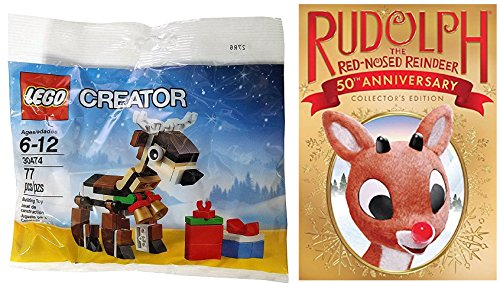 Rudolph the Red-Nosed Reindeer (50th Anniversary) DVD & Lego Christmas Reindeer Creator Special Set
