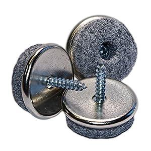 Peha anti scratch felt pads with screw 22 mm 16 pcs diy tools - Screw in felt pads ...