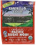 Emerald Cove Organic Toasted Nori Sheets, .9-Ounce Package (Pack of 6)