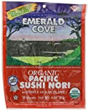 Emerald Cove Organic Toasted Nori Sheets Package, Pacific Sushi Nori, 0.9 Ounce (Pack of 6)