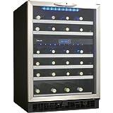 Danby DWC518BLS 5.1 Cu. Ft. 51-Bottle Silhouette Wine Cellar – Black/Stainless